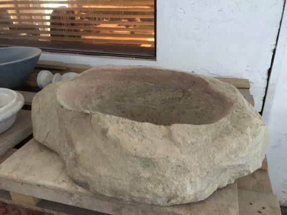 hand carved sandstone basin